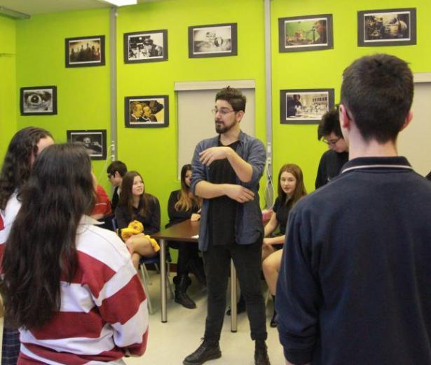 Ian Lagarde rencontre les jeunes à Châteauguay