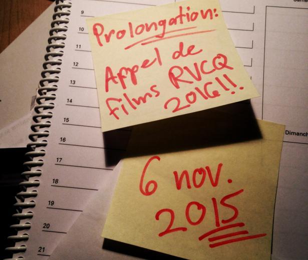 Dernière chance d'inscrire vos films pour la prochaine édition des RVCQ!