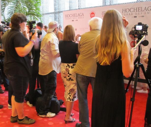 Première mondiale du film Hochelaga, Terre des âmes