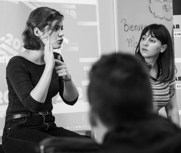 Marianne Fortier et Rose-Marie Perreault rendent visite à l'école Édouard-Montpetit