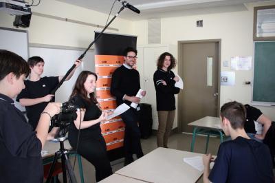 François Jaros rencontre les élèves de l'École Honoré-Mercier_0