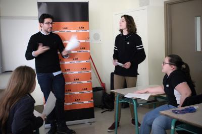 François Jaros rencontre les élèves de l'École Honoré-Mercier_2