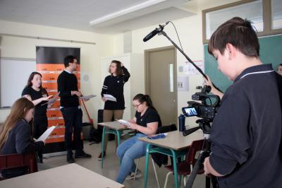 François Jaros rencontre les élèves de l'École Honoré-Mercier_3