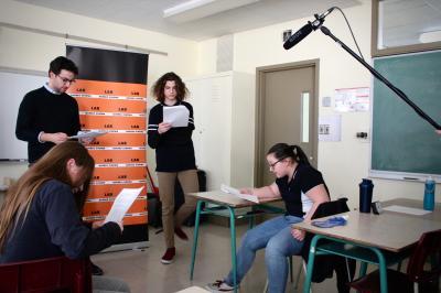François Jaros rencontre les élèves de l'École Honoré-Mercier_4