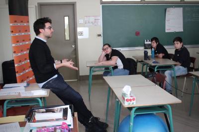 François Jaros rencontre les élèves de l'École Honoré-Mercier_6