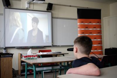 François Jaros rencontre les élèves de l'École Honoré-Mercier_7