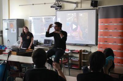 François Jaros rencontre les élèves de l'École Honoré-Mercier_8