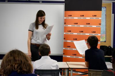 Sarianne Cormier offre une captivante leçon de cinéma à l'école Saint-Edmond !_8