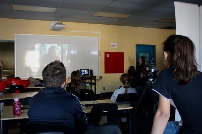 François Jaros rencontre les élèves de l'École Honoré-Mercier_11