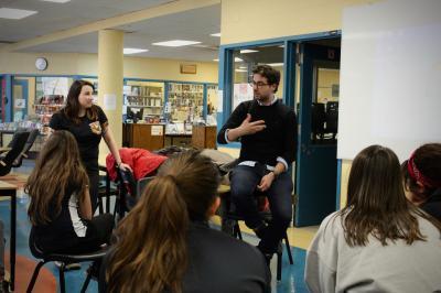François Jaros rencontre les élèves de l'École Honoré-Mercier_12