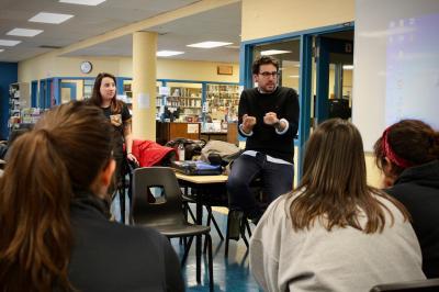 François Jaros rencontre les élèves de l'École Honoré-Mercier_13