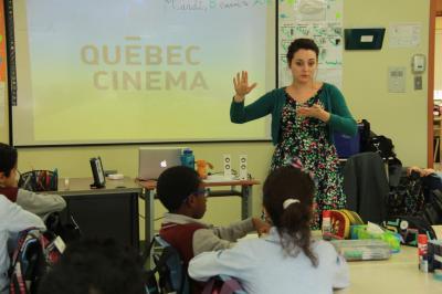 Québec Cinéma à l'école Dar Al Iman_0