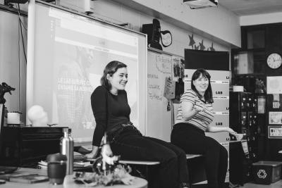 Marianne Fortier et Rose-Marie Perreault rendent visite à l'école Édouard-Montpetit_4