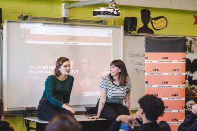 Marianne Fortier et Rose-Marie Perreault rendent visite à l'école Édouard-Montpetit_8