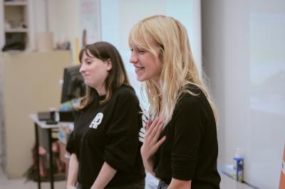 Marianne Fortier et Rose-Marie Perreault rendent visite à l'école Édouard-Montpetit_6