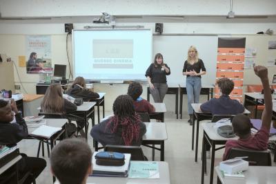 Marianne Fortier et Rose-Marie Perreault rendent visite à l'école Édouard-Montpetit_15